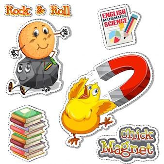 Frasi inglese per il magnete di pollo e rock & roll