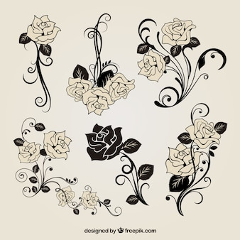 Free vector rose decorazione
