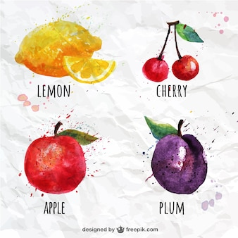 Frutti acquerello set