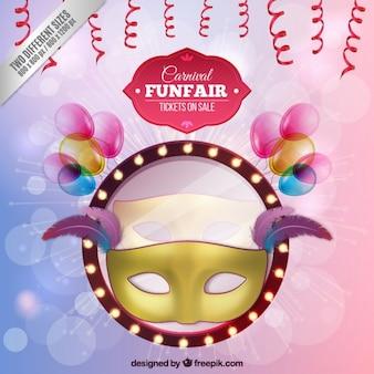 Funfair maschera backgroun
