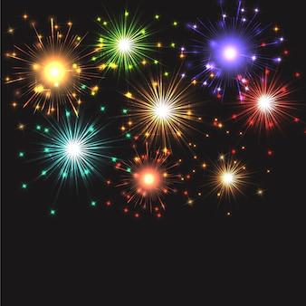 Fuochi d'artificio che esplodono