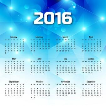 Geometrica blu 2016 calendario