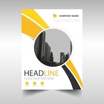 Giallo relazione annuale modello di copertina del libro creativo