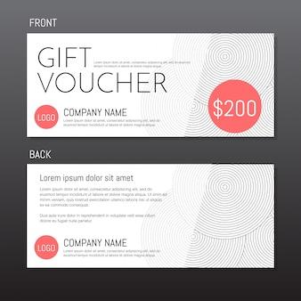 Gift Voucher Vector sfondo per banner, poster, volantino