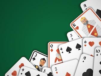 Giochi di carte di gioco del rischio del pericolo del gioco del casinò del gioco del casinò illustrazione di vettore di priorità bassa