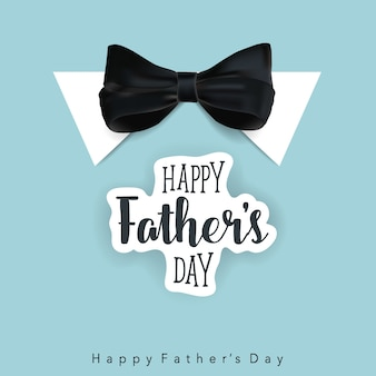 Giorno del padre felice con sfondo di legame di arco