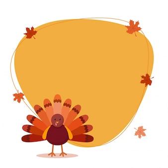 Giorno di ringraziamento sfondo con uccello Turchia.