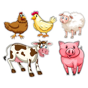 Gli animali della fattoria collecti