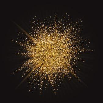 Glitter scoppio sfondo con effetto esplosione oro