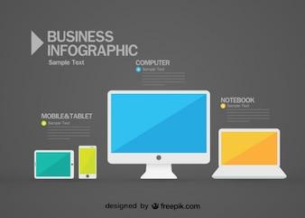 Grafica vettoriale ed elementi di Infographic gratis