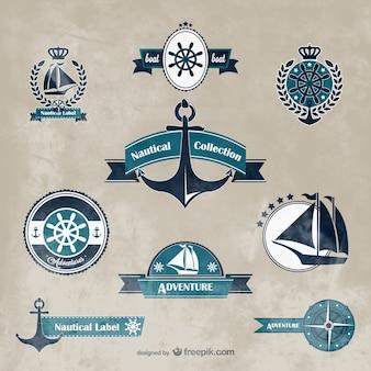 Grafica vettoriale nautiche