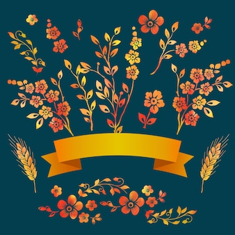 Grafico floreale modello di fiore estate