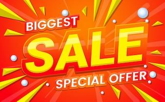 Grande banner di vendita di vendita Vector sfondo