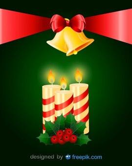 Grande cravatta in possesso di un paio di campane e candele