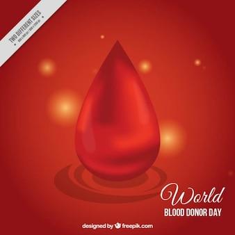 Grande goccia di sangue sfondo