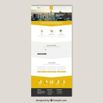 Grattacieli modello di sito web