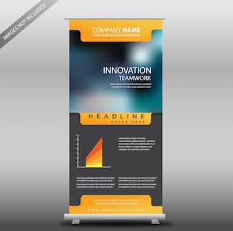 Gray e Yellow Corporate roll up