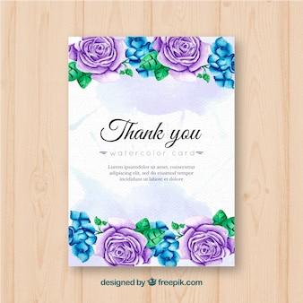 Grazie carta con rose piuttosto