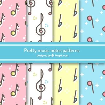 Grazioso modello di note musicali