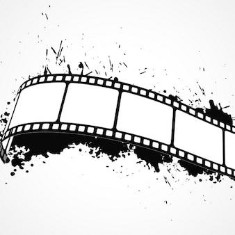 Grunge sfondo astratto con la striscia della pellicola