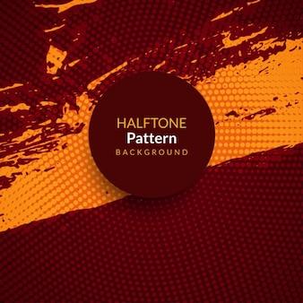 Grunge sfondo astratto con pattern mezzetinte circolare