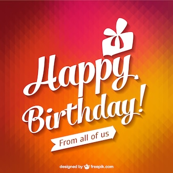 Happy Birthday Card tipografia
