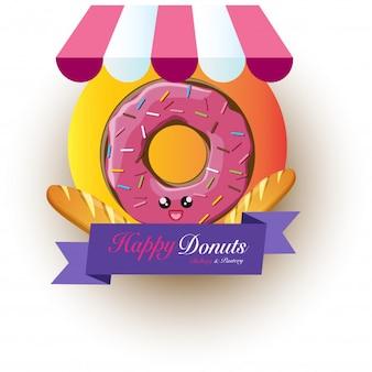 Happy Design Donuts Logo