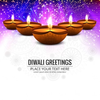 Happy Diwali sfondo colorato