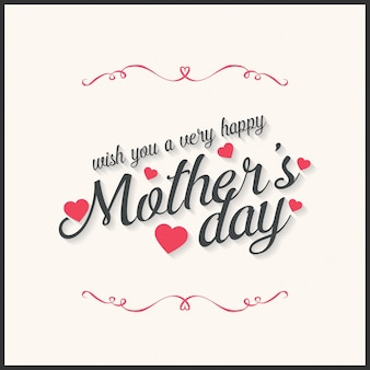 Happy Mothers Day lettering a mano day card illustrazione vettoriale calligrafia Madri