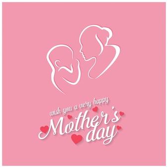 Happy Mothers Day lettering a mano day card illustrazione vettoriale calligrafia Madri