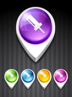 Icona 3d vettore di simbolo della vite