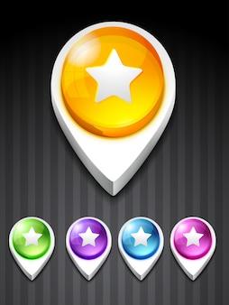 Icona di avvio vettoriale in 5 diversi colori
