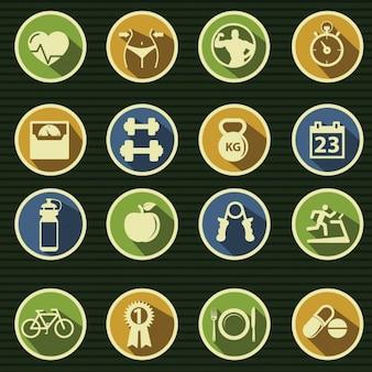 Icone circa ginnastica