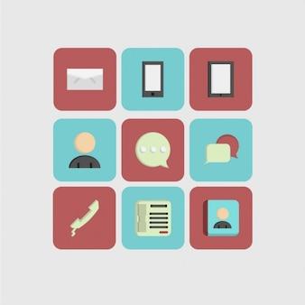 Icone di comunicazione pacco