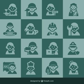 Icone di occupazione e di persone icone