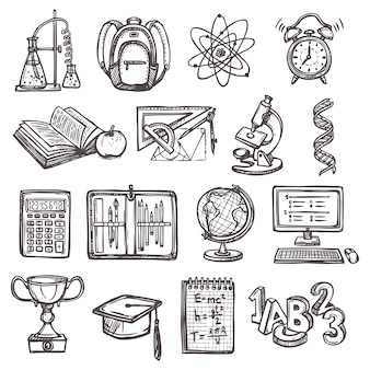 Icone scolastiche di formazione scolastica
