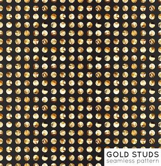 Il metallo dorato misura i modelli senza saldatura. Disegno tessile vettoriale. Sfondo astratto.