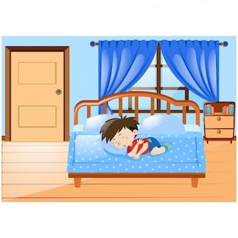 Sleeping carattere ragazzo scaricare vettori gratis - Sognare cacca nel letto ...