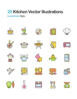 Illustrazione a colori di cucina