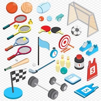 Illustrazione del concetto di sport in grafica isometrica