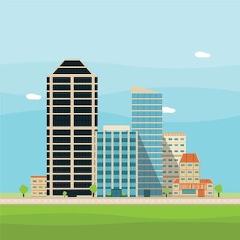 Illustrazione della città di vettore