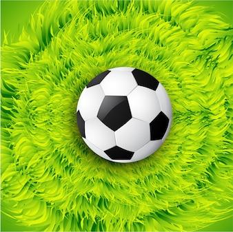 Illustrazione di sfondo di progettazione di calcio vettoriale