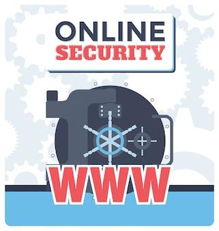 Illustrazione di sicurezza online