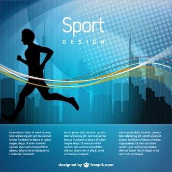 Illustrazione jogging uomo vettoriale