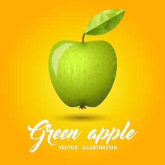 Illustrazione verde mela