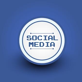 Illustrazione vettoriale di badge sociale dei media