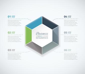 Illustrazione vettoriale di infographic illustrazione vettoriale elementi cerchio. Semplice da usare e mostrare opzioni, dati aziendali e passaggi sia in carta che in web design.