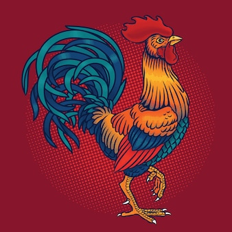 Illustrazione vettoriale di un gallo