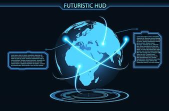 Illustrazione vettoriale futuristico d'ardore illustrazione