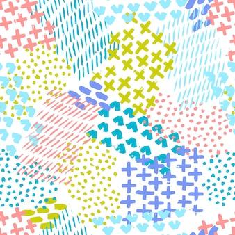 Illustrazione vettoriale senza soluzione di continuità dipinta a mano